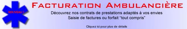 """Facturation Ambulancière - Découvrez nos contrats de prestations adaptés à vos envies - Saisie de factures ou forfait """"tout compris"""""""