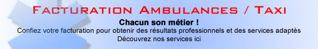 Facturation Ambulancière - Ambulances - Taxi
